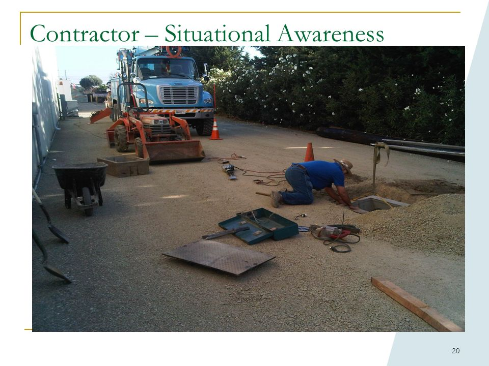 19 Contractor in work area – situational awareness