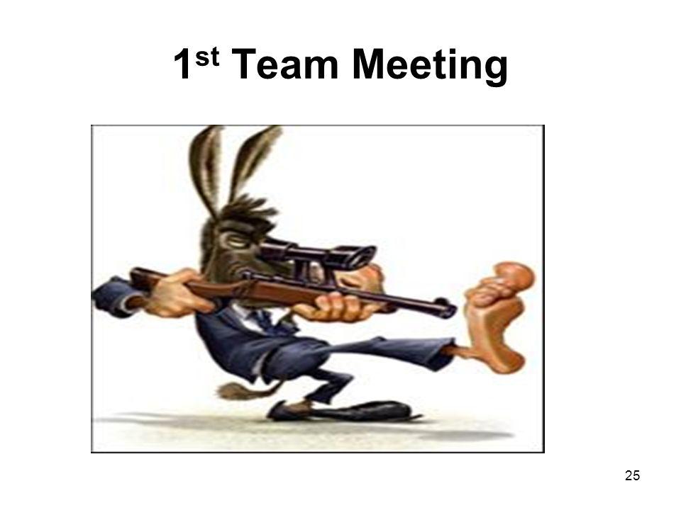1 st Team Meeting 25