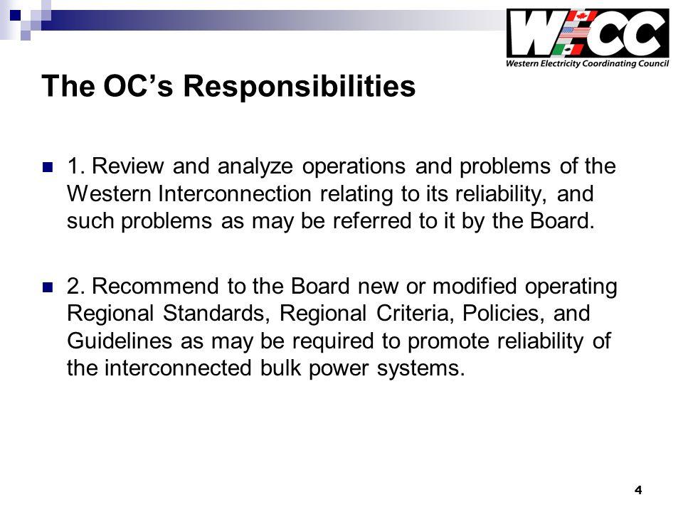 4 The OCs Responsibilities 1.
