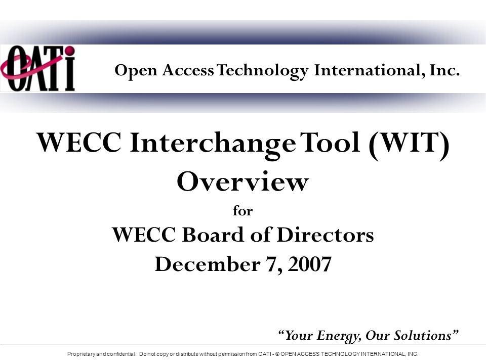 WECC Registry Statistics Proprietary and confidential.
