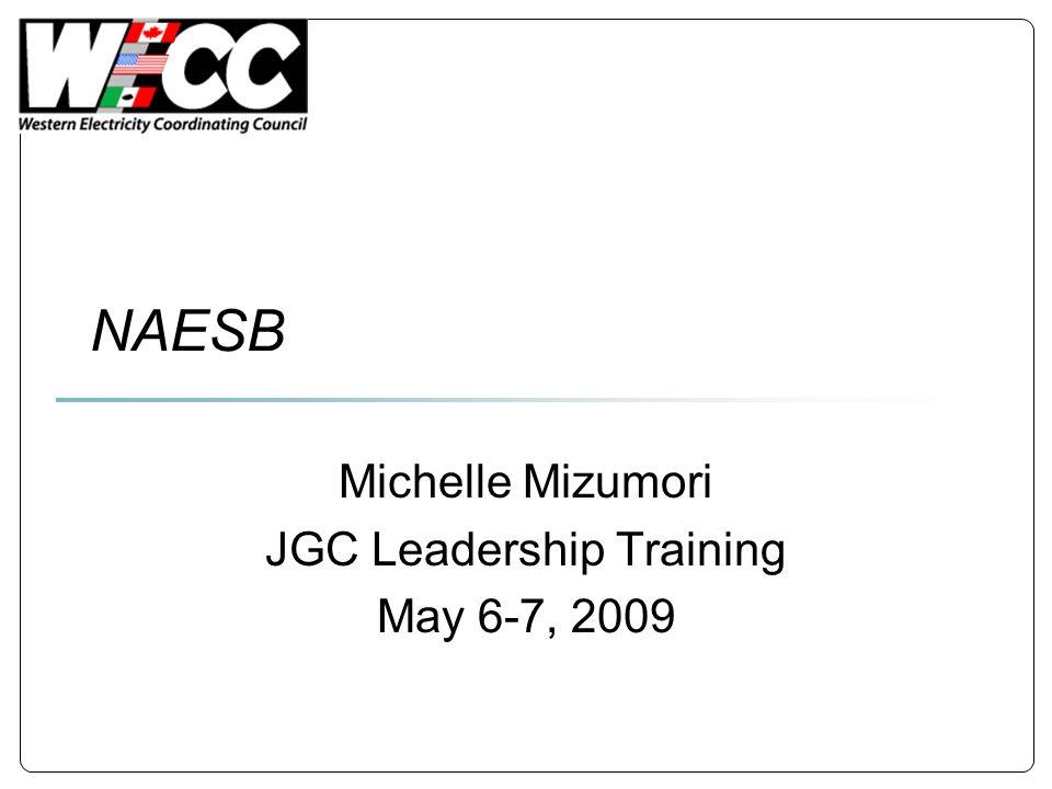 NAESB Michelle Mizumori JGC Leadership Training May 6-7, 2009