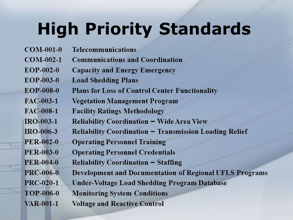 Pending -- Good Utility Practice 24 Standards, two Regional Differences NERC is Requesting additional information