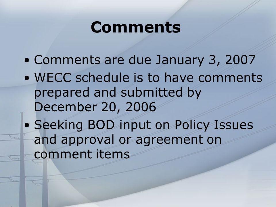 FERC NOPR on Standards WECC Board of Directors Meeting December 7-8, 2006 Questions?