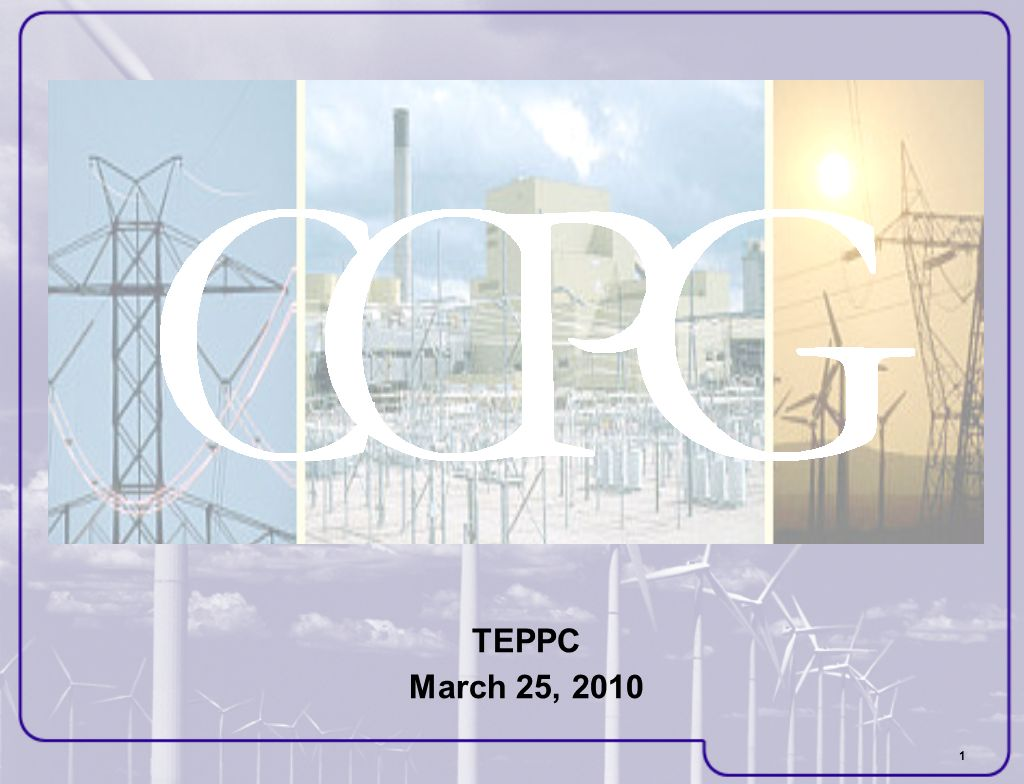 1 TEPPC March 25, 2010