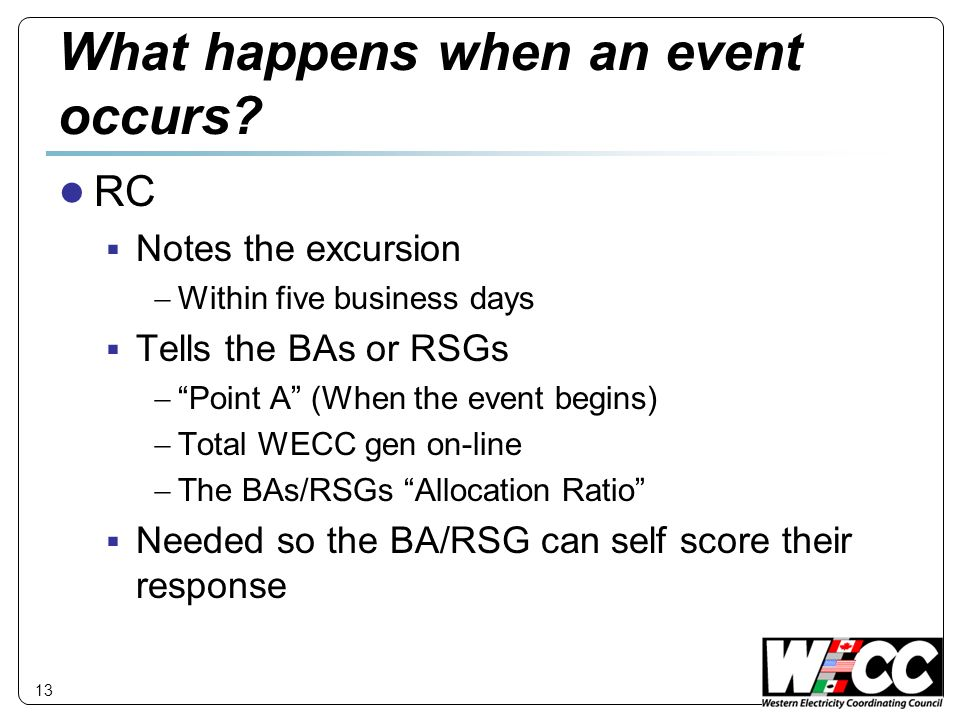 What happens when an event occurs.