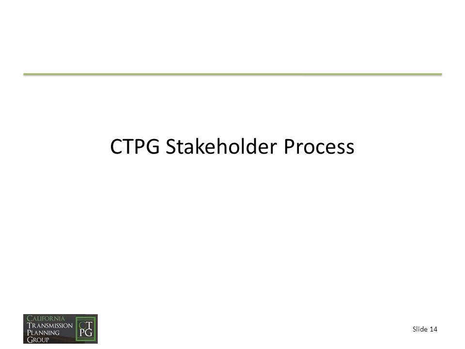 Slide 14 CTPG Stakeholder Process