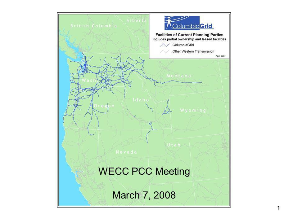1 WECC PCC Meeting March 7, 2008
