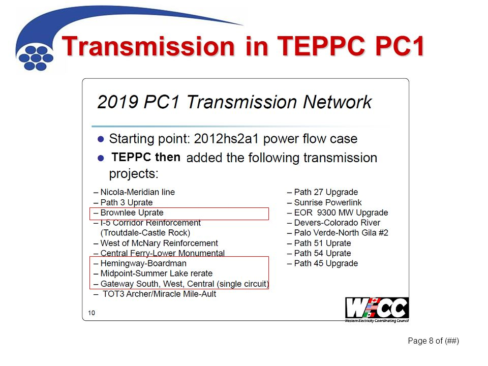 Transmission in TEPPC PC1 Page 8 of (##) TEPPC then