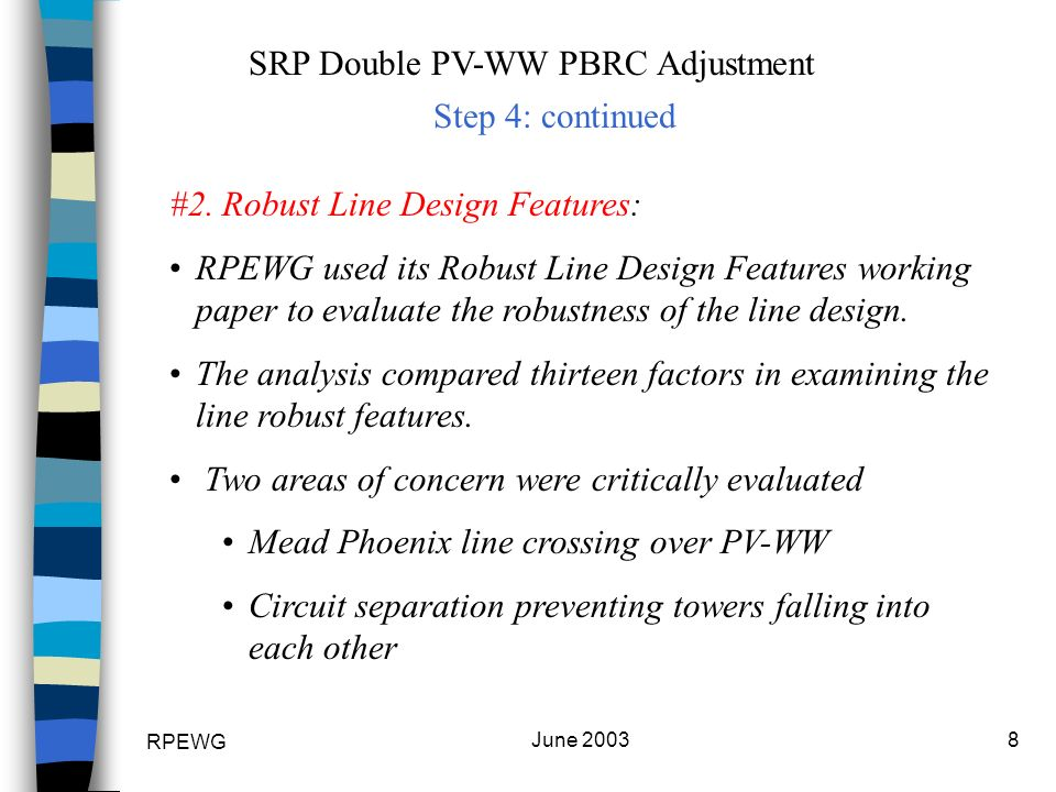 RPEWG June SRP Double PV-WW PBRC Adjustment #2.