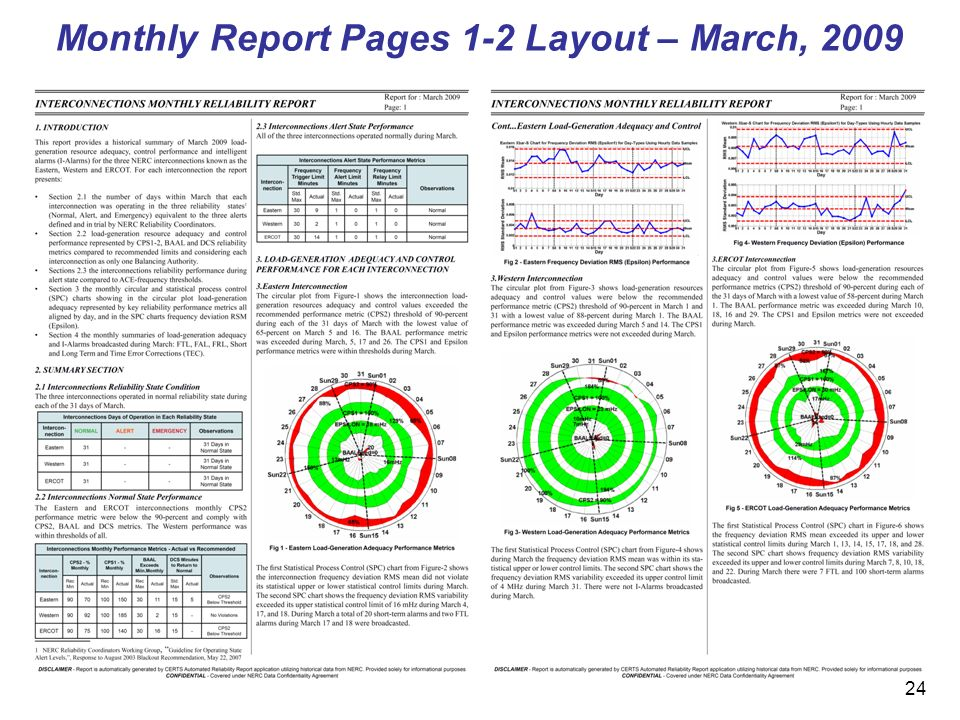 24 Monthly Report Pages 1-2 Layout – March, 2009