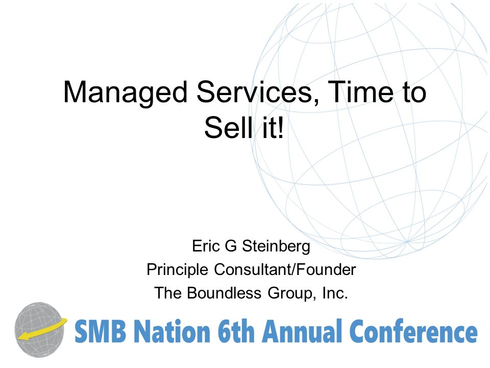 Managed Services, Time to Sell it.