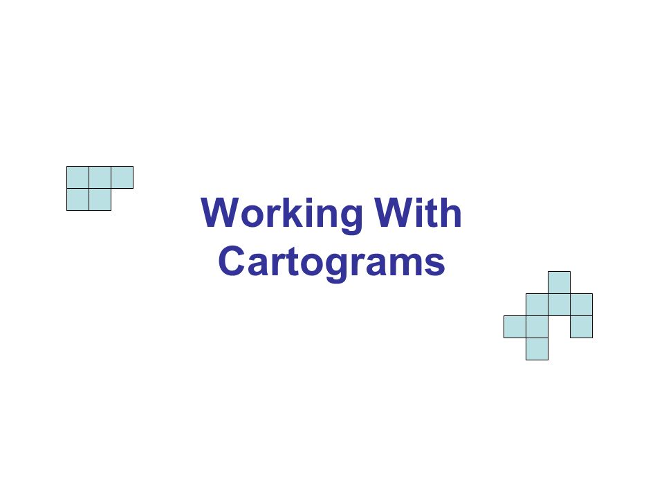 Cartograms give graphic representations of data in ways that help us visually compare areas.