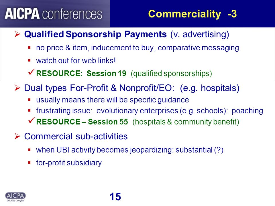 15 Commerciality -3 Qualified Sponsorship Payments (v.