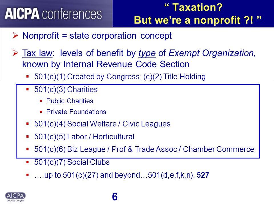6 Taxation. But were a nonprofit .