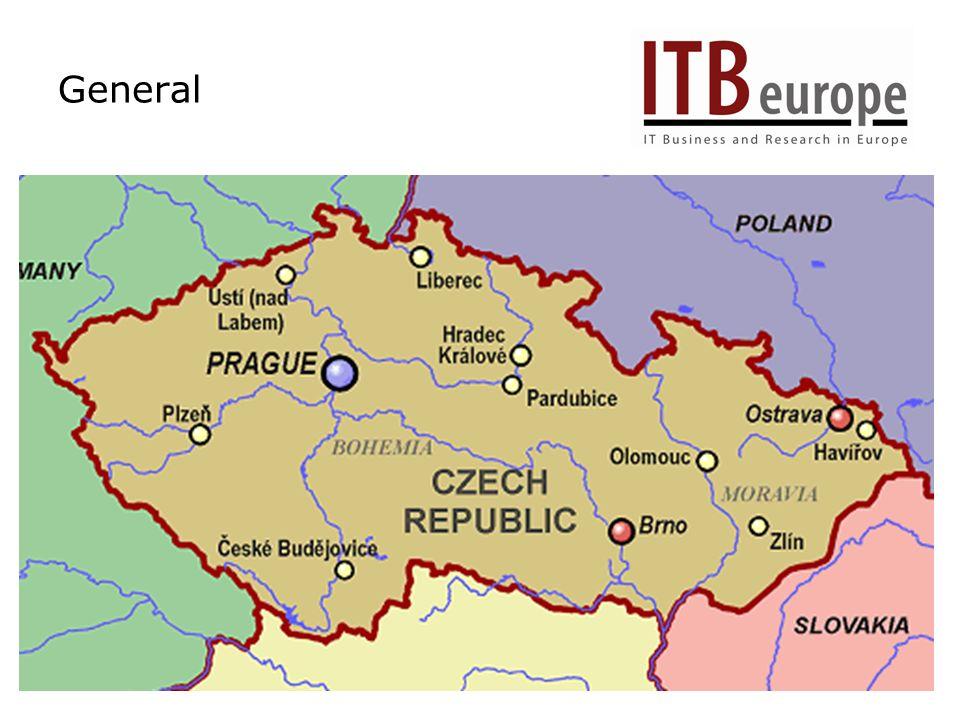 Geography Size: 78.866 km2 Population: 10,246.522 Capital: Prague 1,180.100 Brno 367.226 Ostrava 310.459 Plzeň 162.780 Olomouc 100.752 Liberec 97.400 Č.