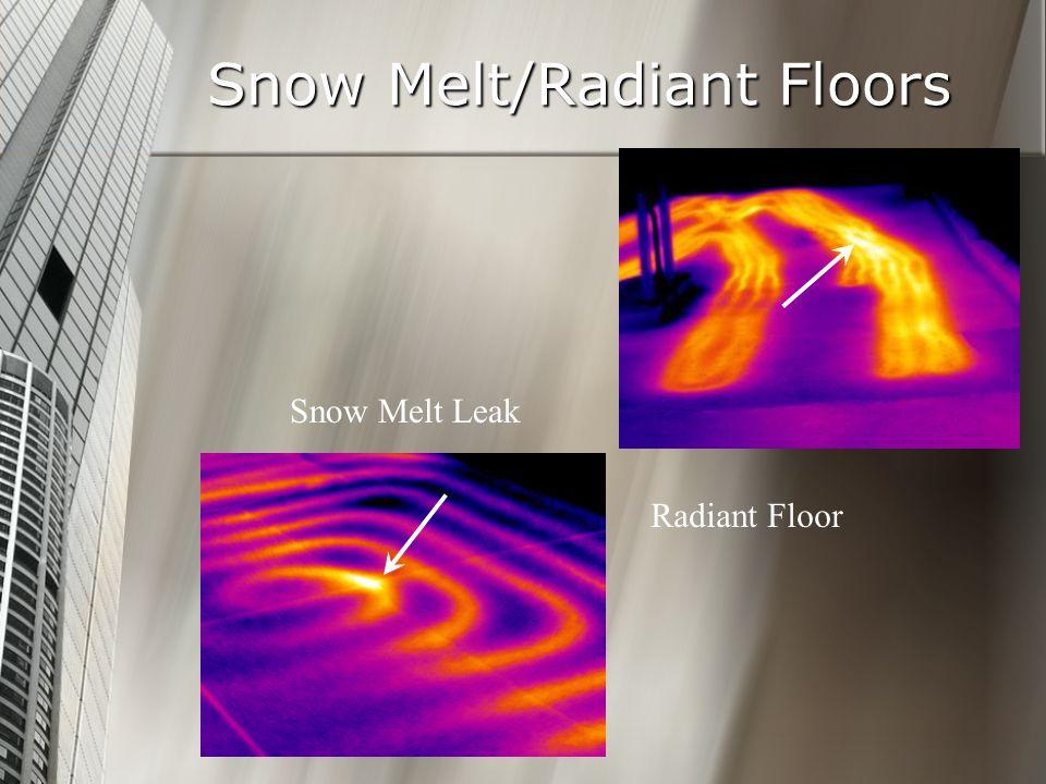 Snow Melt/Radiant Floors Snow Melt Leak Radiant Floor