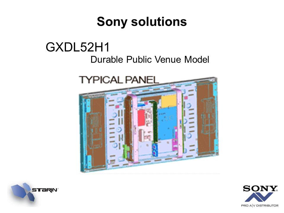 Sony solutions GXDL52H1 Durable Public Venue Model