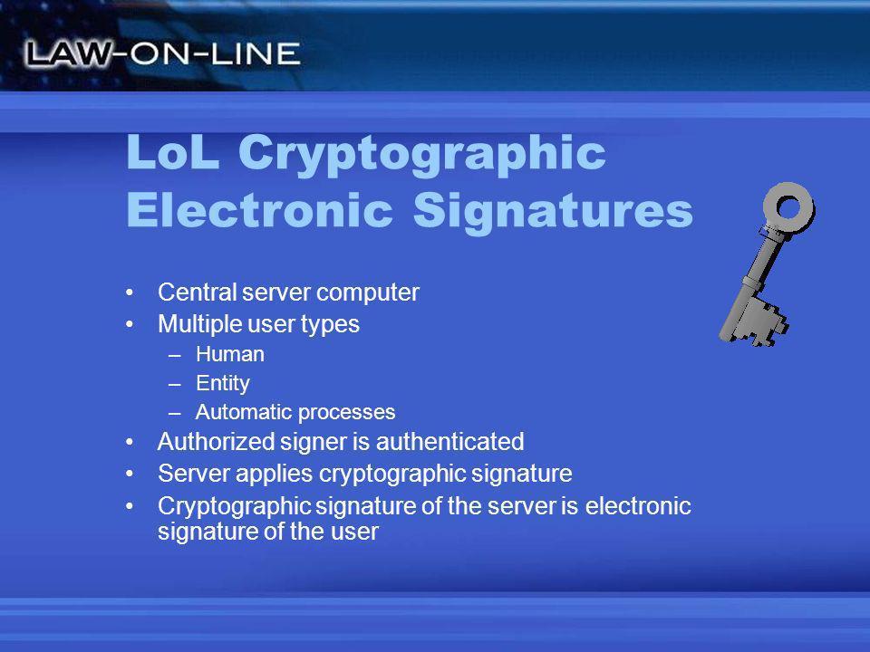 XKI Architecture Authenticate Sign Single or Multi- factored ID Federated Identity (SAML 2) XKI Signature Engine Asymmetric Encryption Atomic Signatures Digital Certificate (Smart Card optional) Biometric Voice Iris scan Face Finger