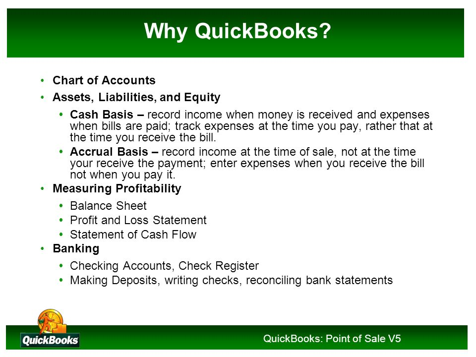 QuickBooks: Point of Sale V5 Experiential Learning Constructivist Instructional Methodology Recognized as an effective approach to computer software t
