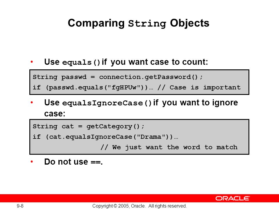 9-8 Copyright © 2005, Oracle. All rights reserved.