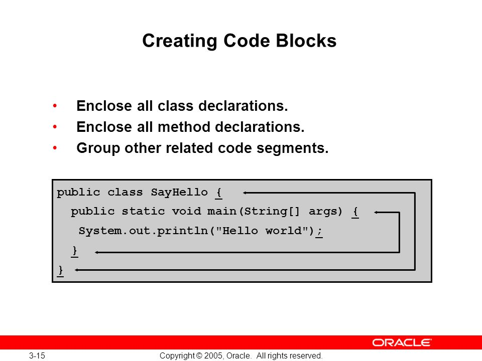 3-15 Copyright © 2005, Oracle. All rights reserved.