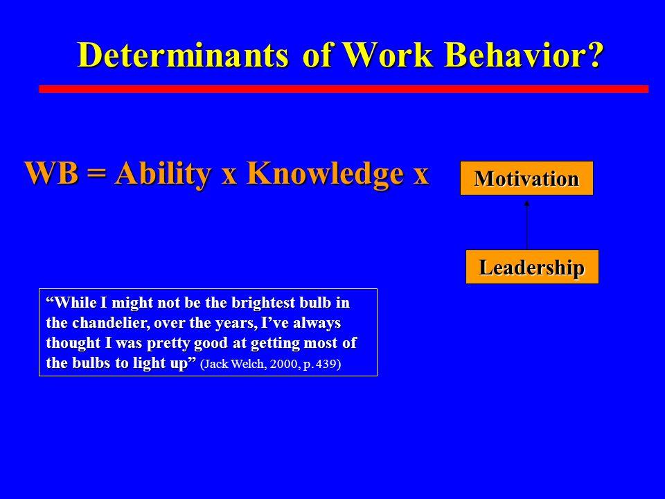 Determinants of Work Behavior.