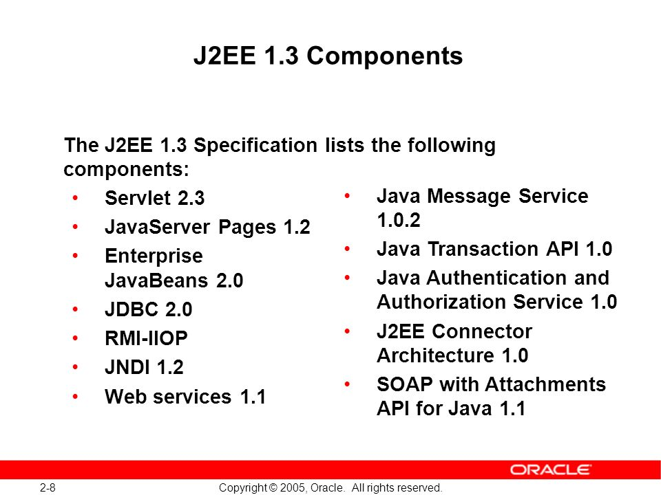 2-9 Copyright © 2005, Oracle.All rights reserved.