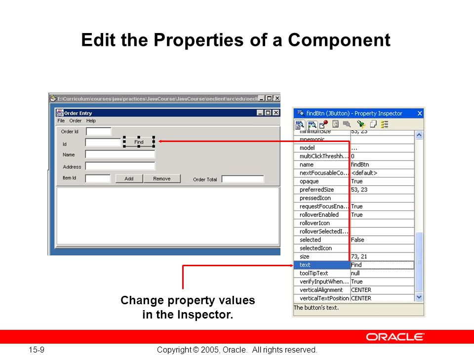 15-9 Copyright © 2005, Oracle. All rights reserved.