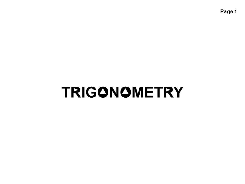 Page 1 TRIGONOMETRY