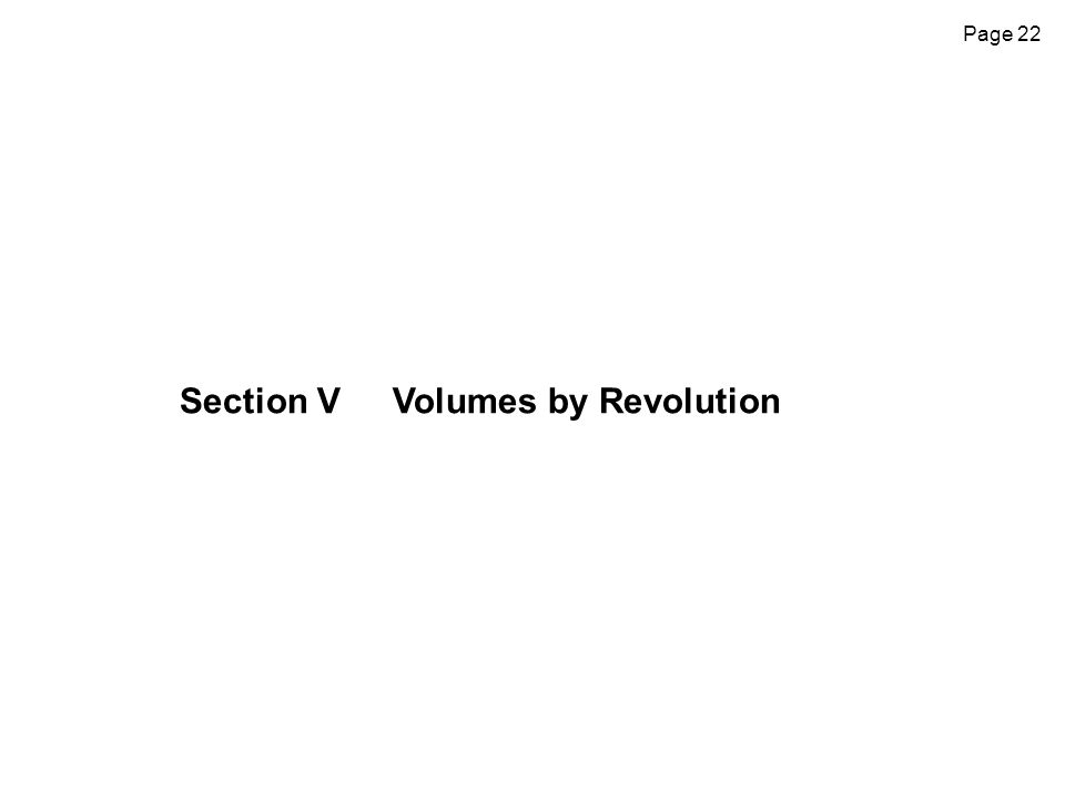 Page 22 Section VVolumes by Revolution
