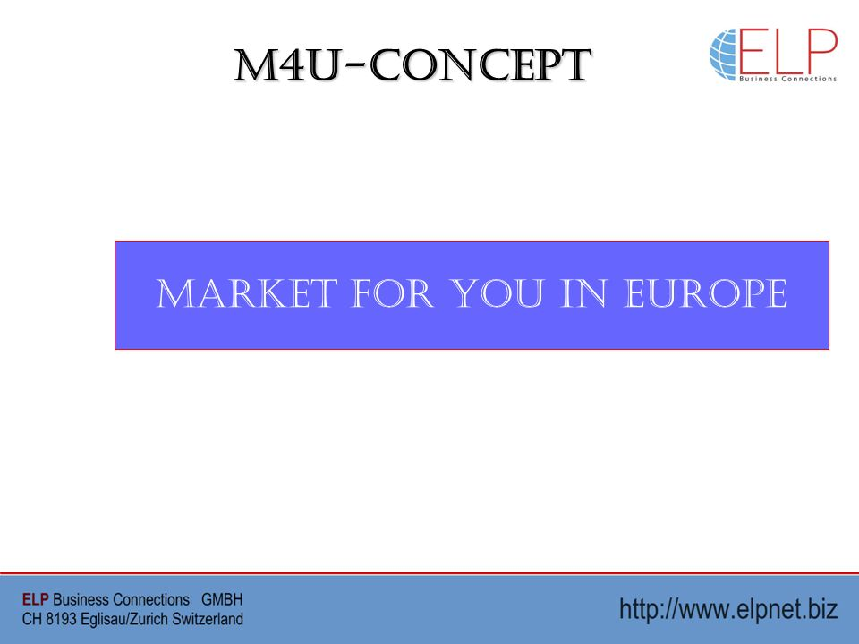 M4U-Concept Market For You in Europe