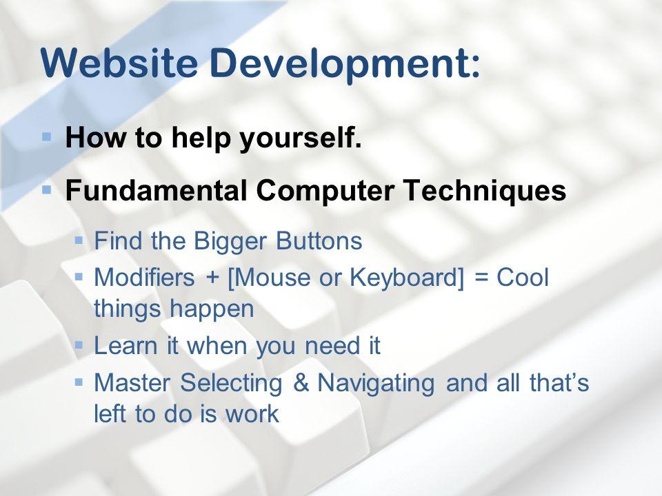 Website Development: How to help yourself.