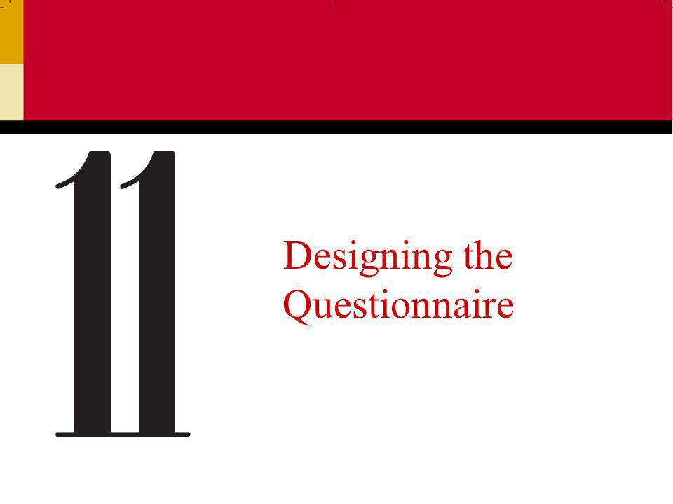 Ch 112 What is a Questionnaire.