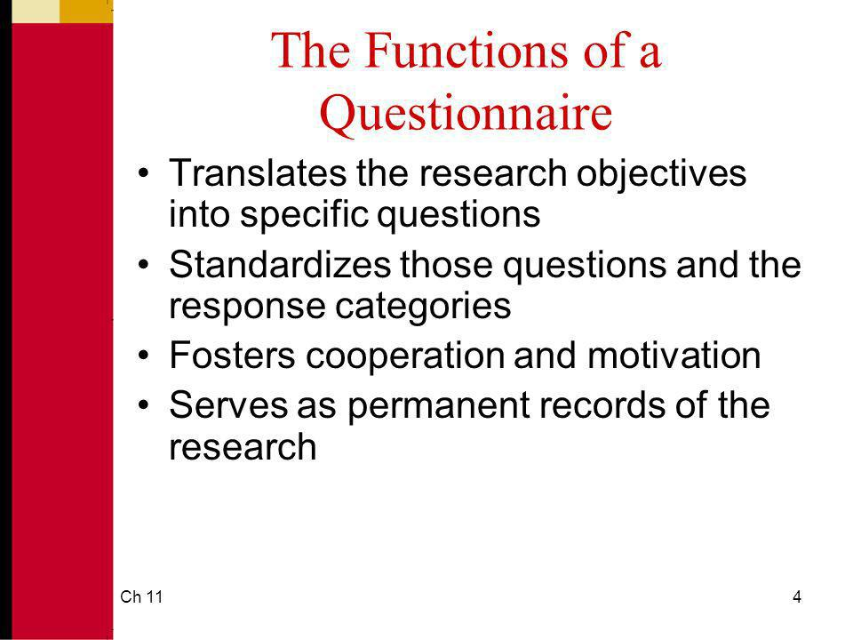 Ch 1125 Screening Questions Screening questions are used to ferret out respondents who do not meet research study qualifications.
