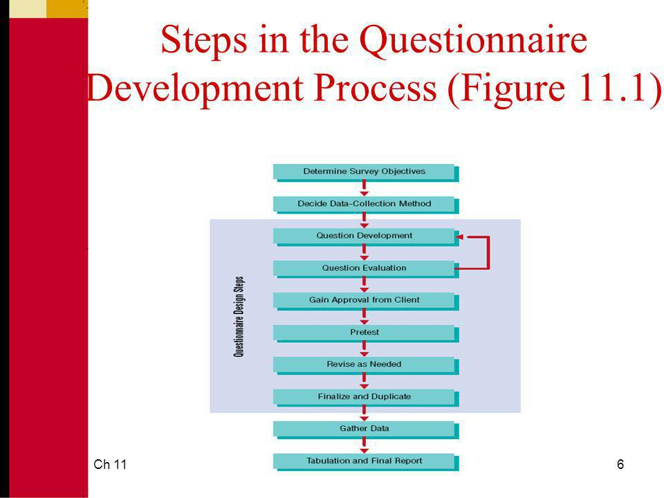 Ch 116 Steps in the Questionnaire Development Process (Figure 11.1)