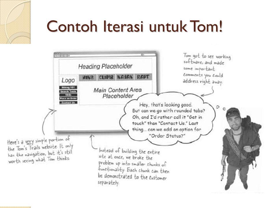 Contoh Iterasi untuk Tom!