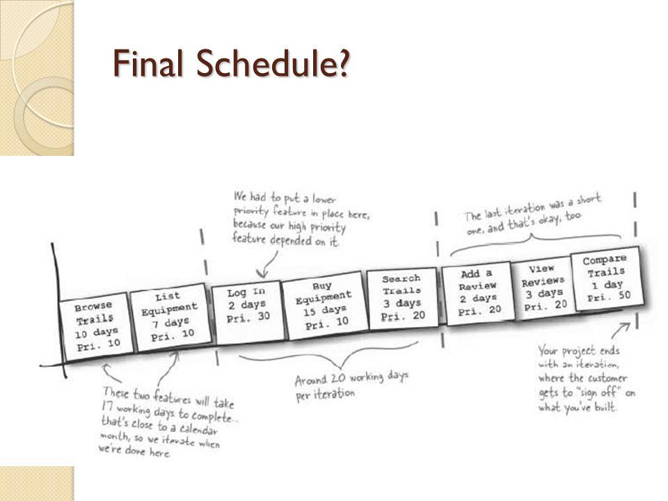 Final Schedule?