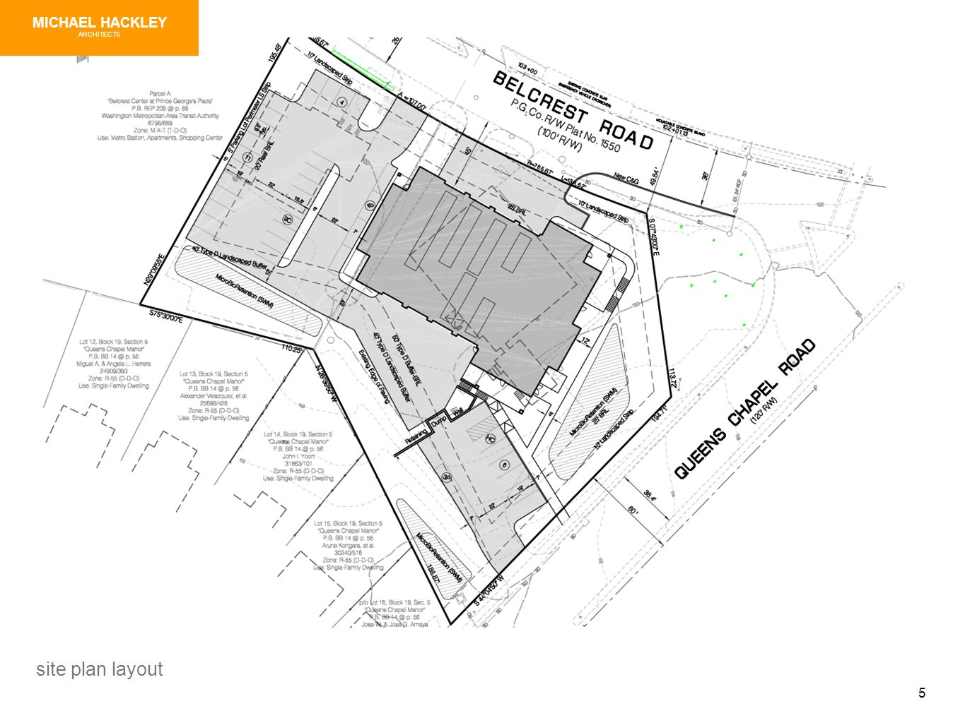 5 site plan layout MICHAEL HACKLEY ARCHITECTS