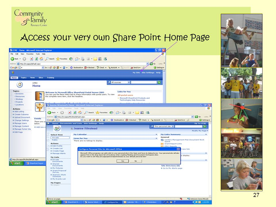 slide 2727 Access your very own Share Point Home Page