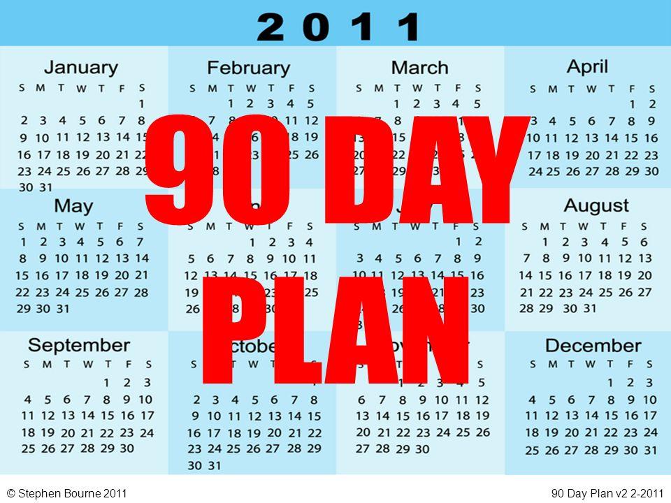 © Stephen Bourne 201190 Day Plan v2 2-2011