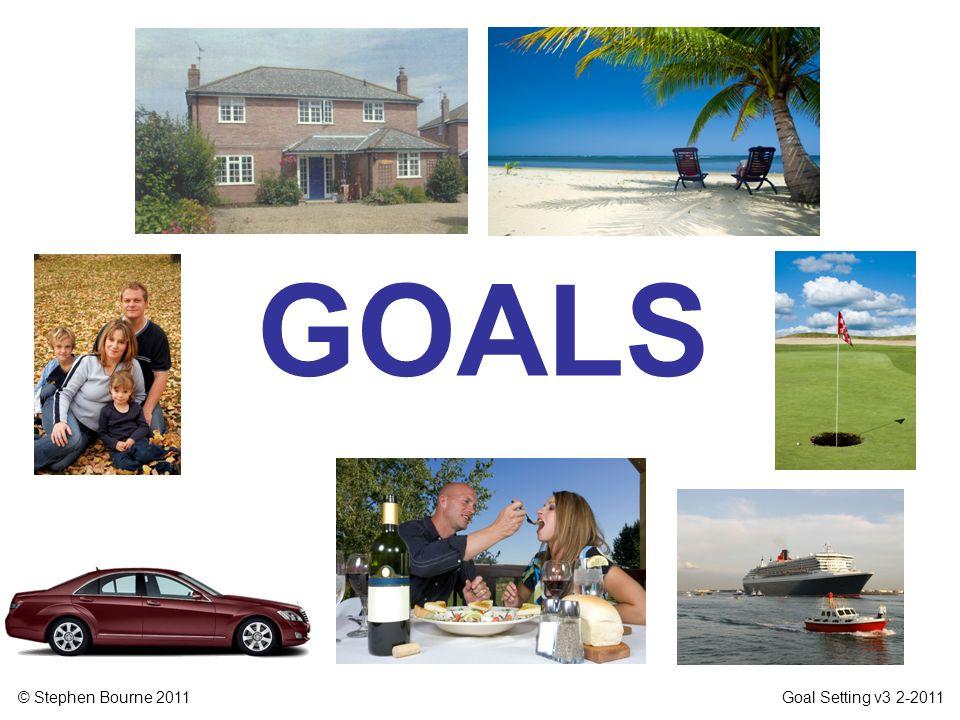 © Stephen Bourne 2011 Goal Setting v3 2-2011 GOALS