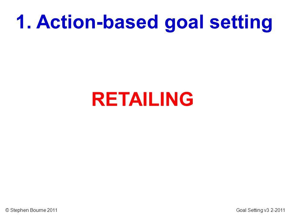 © Stephen Bourne 2011 Goal Setting v3 2-2011 RETAILING 1. Action-based goal setting
