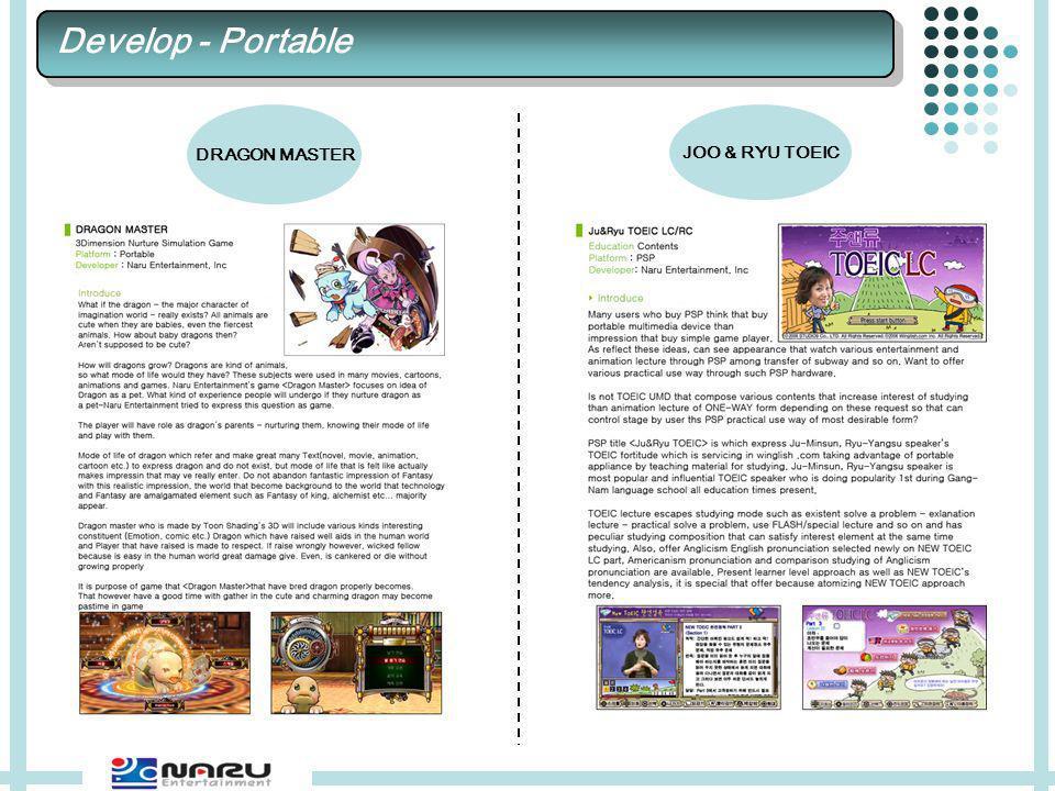 DRAGON MASTER JOO & RYU TOEIC Develop - Portable