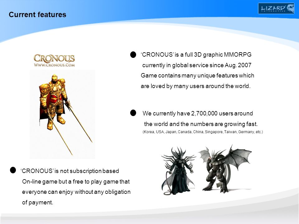 CRONOUS is a full 3D graphic MMORPG currently in global service since Aug.