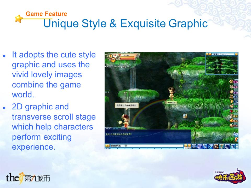 Unique Style & Exquisite Graphic It adopts the cute style graphic and uses the vivid lovely images combine the game world.