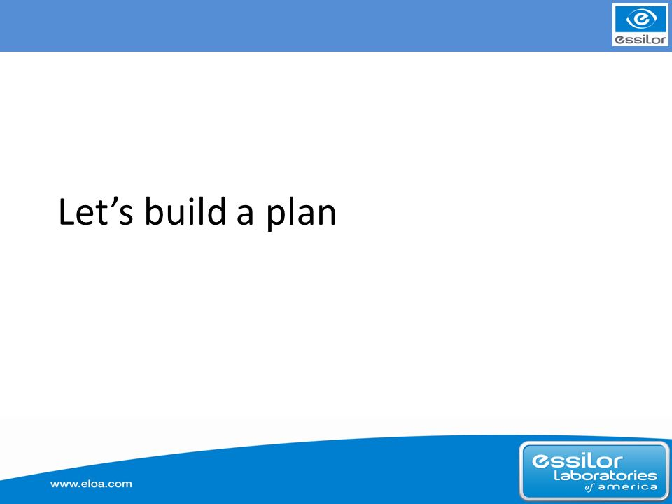 Lets build a plan