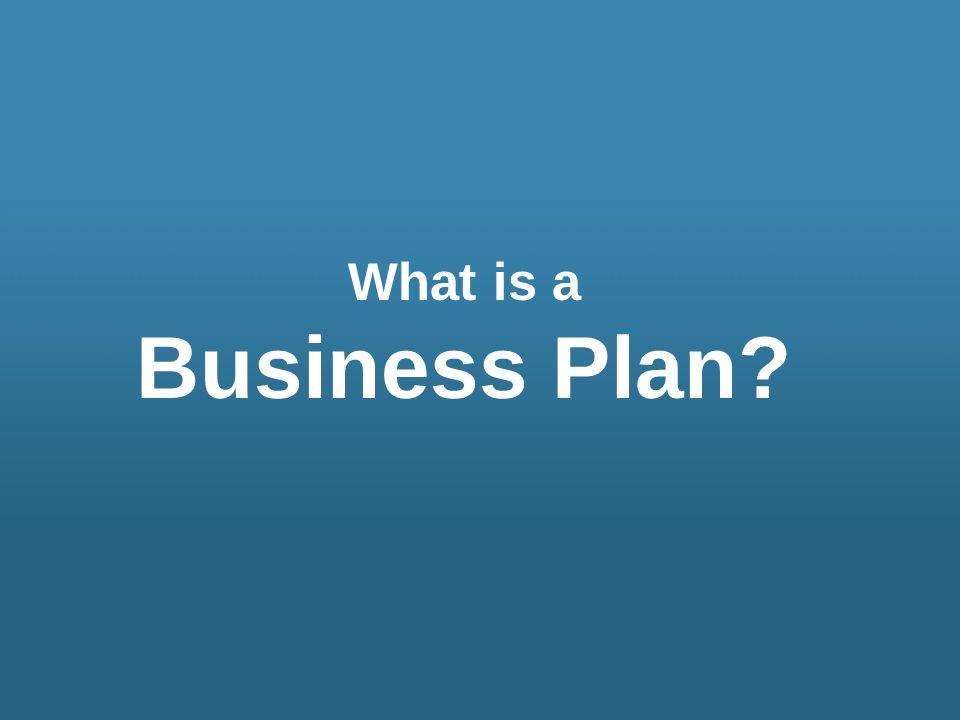 What is a Business Plan?