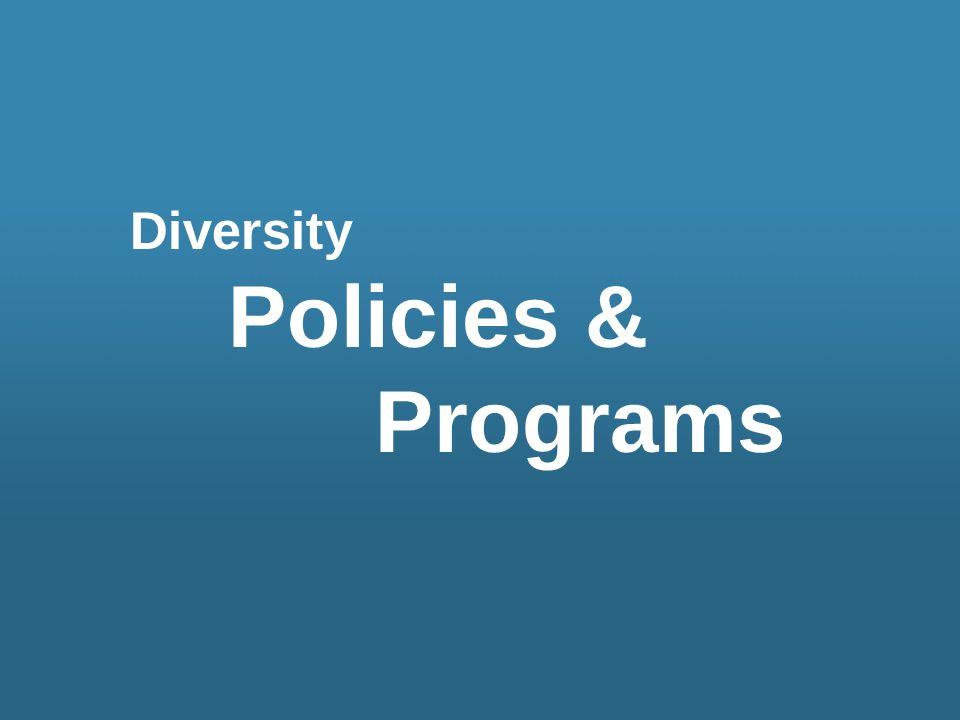 Diversity Policies & Programs