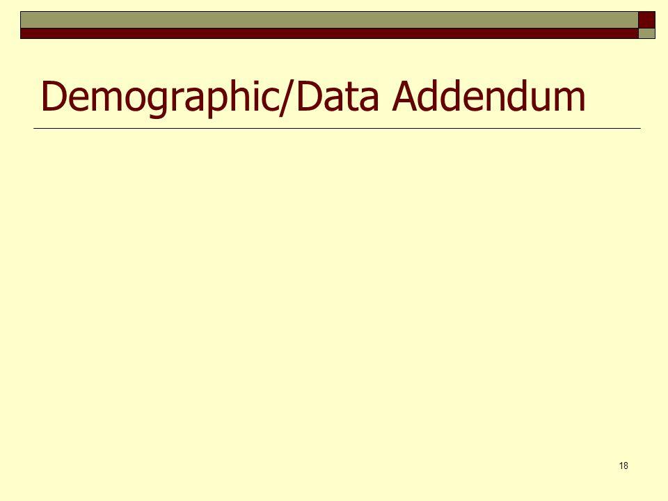 18 Demographic/Data Addendum