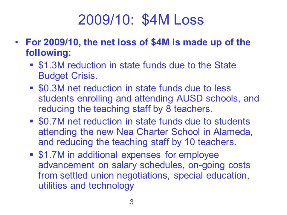 There is no easy answer to a projected $7M loss in funds over a 2-year period.